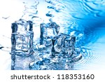 ice cube with pure water on... | Shutterstock . vector #118353160
