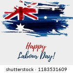 australia labour day holiday.... | Shutterstock .eps vector #1183531609