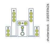 audio system speakers icon.... | Shutterstock .eps vector #1183535626