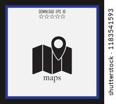 maps vector icon | Shutterstock .eps vector #1183541593