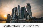 panorama of moscow city   new... | Shutterstock . vector #1183544290