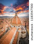 the duomo in florence  the... | Shutterstock . vector #1183547500