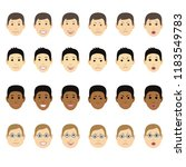 different man faces with... | Shutterstock .eps vector #1183549783