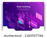 website template design.... | Shutterstock .eps vector #1183557766