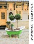 streeet in lviv    Shutterstock . vector #1183559476