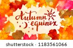autumn equinox    handwritten... | Shutterstock .eps vector #1183561066