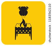 brazier and chicken icon....   Shutterstock .eps vector #1183562110