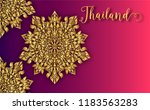 thailand ancient luxury concept.... | Shutterstock .eps vector #1183563283