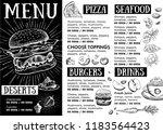 restaurant cafe menu  template... | Shutterstock .eps vector #1183564423