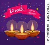 diwali festival sale poster... | Shutterstock .eps vector #1183564696