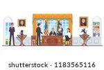 united states president sitting ... | Shutterstock .eps vector #1183565116