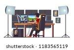cyber sport pro gamer live... | Shutterstock .eps vector #1183565119