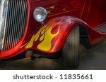 a classic bright red hotrod...   Shutterstock . vector #11835661