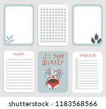 cute daily planner template for ... | Shutterstock .eps vector #1183568566