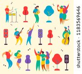 colorful modern flat characters ... | Shutterstock .eps vector #1183569646