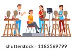 sculpture class students... | Shutterstock .eps vector #1183569799