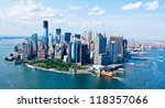 new york city sky view | Shutterstock . vector #118357066
