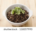 close up of a bowl of minced... | Shutterstock . vector #118357993