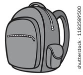 black and white backpack   a... | Shutterstock .eps vector #1183589500