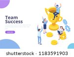 team success vector... | Shutterstock .eps vector #1183591903
