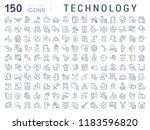 set of vector line icons of... | Shutterstock .eps vector #1183596820