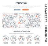 linear banner of education.... | Shutterstock .eps vector #1183599859