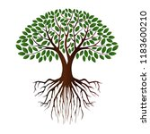 tree vector illustrations ... | Shutterstock .eps vector #1183600210