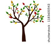 tree with leaves of various... | Shutterstock .eps vector #1183600543