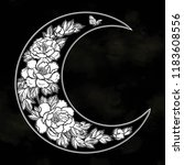 beautiful romantic crescent moon | Shutterstock .eps vector #1183608556
