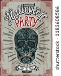 halloween party poster with... | Shutterstock .eps vector #1183608586