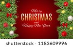 merry christmas and new year... | Shutterstock .eps vector #1183609996