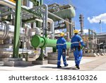 chemical industry plant  ... | Shutterstock . vector #1183610326