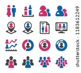 people with gender icon set | Shutterstock .eps vector #1183612249