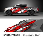 pick up truck  decal wrap... | Shutterstock .eps vector #1183623160