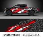 pick up truck  decal wrap...   Shutterstock .eps vector #1183623316