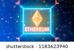 ethereum logo illustration on a ... | Shutterstock . vector #1183623940