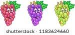 grapes. fruit food concept.... | Shutterstock .eps vector #1183624660