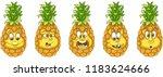 pineapple. fruit food concept.... | Shutterstock .eps vector #1183624666