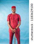 african male fashion model... | Shutterstock . vector #1183629100