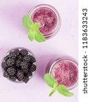 blackberry smoothie   raw... | Shutterstock . vector #1183633243