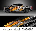 pick up truck  decal wrap... | Shutterstock .eps vector #1183636186