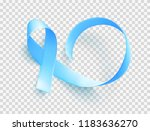 realistic blue ribbon over... | Shutterstock .eps vector #1183636270