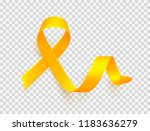 realistic gold ribbon over... | Shutterstock .eps vector #1183636279