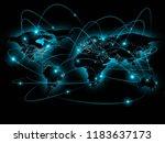 physical world map illustration.... | Shutterstock . vector #1183637173