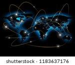 physical world map illustration.... | Shutterstock . vector #1183637176