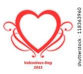 red vintage valentines day...   Shutterstock .eps vector #118363960