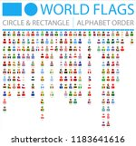 all world flags   circle ... | Shutterstock .eps vector #1183641616