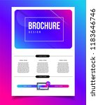 vector brochure template with... | Shutterstock .eps vector #1183646746