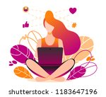 social network  freelancer... | Shutterstock .eps vector #1183647196