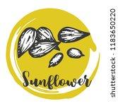 sunflower seed vintage hand... | Shutterstock .eps vector #1183650220